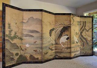 JAPANESE KANO SCHOOL FOLDING SCREEN Huge Six Panel Edo Masterpiece