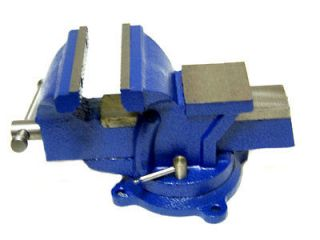 Bench Vise with Anvil Swivel Locking Base Table top Clamp Heavy