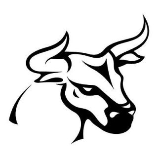 Bull Steer Animal Vinyl Wall Art Sticker Tattoo Art Style Design
