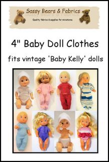 Baby Doll Clothes Pattern   Fits VINTAGE BABY KELLY