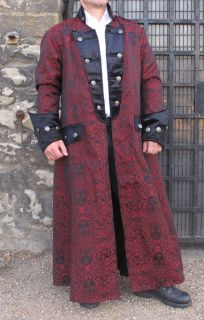 Pirate Vampire Gothic Military Jacket Coat Medusa Theatrical Quality