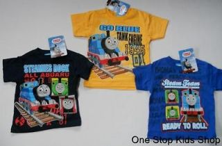 THOMAS THE TRAIN Toddler Boys 2T 3T 4T Short Sleeve SHIRT Tee Top