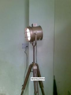 ANTIQUE FLOOR SEARCH LIGHT LAMP WITH TRIPOD,ANTIQUE FLOOR LAMP