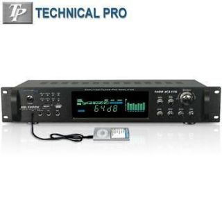 Technical Pro HB1502U Hybrid 1500W Amplifier w Tuner