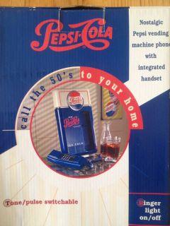 Pepsi Cola Vending Machine Phone w/ Integrated Handset Vintage
