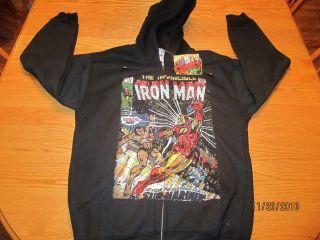 Iron Man Submariner Marvel Comics Mens Hoodie NWT