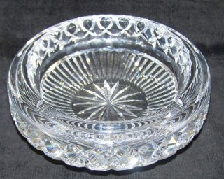 Brilliant Heavy Cut Glass VHeavy Thick 4 Slotted 7 Ash Tray
