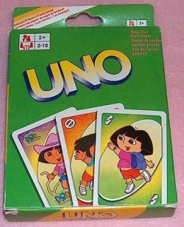 DORA THE EXPLORER UNO PLAYING CARDS GAME BOOTS NICK JR.