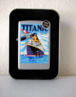 Genuine White Star Line Titanic Zippo Lighter, 2001  Brand New