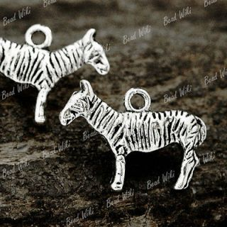30 Antique Tibet Tibetan Silver Animal Zebra Charm Pendant 22x15x3mm