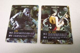 Resident Evil Foil Promo cards mint, Hunk and Ada Wong