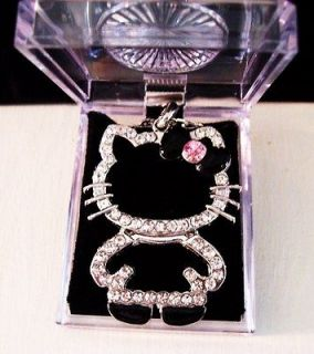 Large Full Body Hello Kitty Necklace Black Bow + Gift Box .Five Days