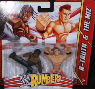 TRUTH & THE MIZ   WWE RUMBLERS TOY WRESTLING ACTION FIGURES 2 PACK