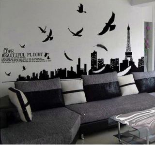 Newly listed Paris Scenery Eiffel Tower Wall Sticker Decor Decals Art