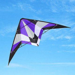 HOT SPORT DUAL CONTROL SPORT STUNT KITE FUN TO FLY/EASY TO FLY PURPLE