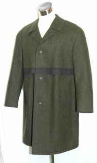 GREEN ~ LODEN WOOL Men German Hunting WINTER Trench Over COAT 48 XL