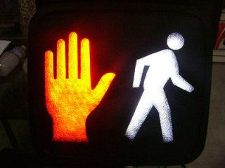 American U.S. Walk light sign Signal light Stop light Hand signal