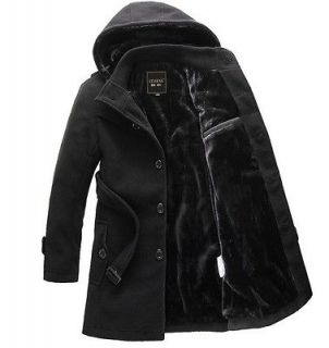 Mens Classic Korea Winter Warm Trench Coats Jackets Outwear #003
