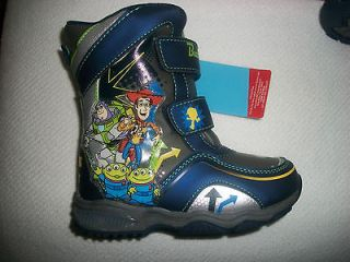 NEW TOY STORY 3 LIGHT UP SNOW BOOTS BOYS TODDLER SZ 9T RETAILS $44.99
