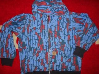 SUPREME TREEBARK THERMAL BOX ARC LOGO CAMO ZIP UP HOODIE L LARGE COMME
