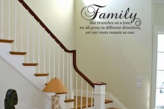 FAMILY LIKE BRANCHES ON A TREE Vinyl Wall Decal Sticker Art Quote