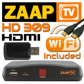 HD 309 Arabic Turkish Greek Channels Receiver Zaap TV w/ WiFi Dongle