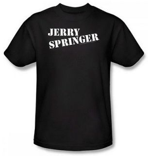 Jerry Springer Logo Adult Black T Shirt NBC121 AT