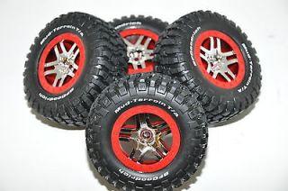 Traxxas Slash 4x4 BFGoodrich Wheels, Tires, Red, Set of 4, S1 Racing