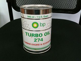 AIR BP TURBO OIL 274, TURBINE ENGINE & ACCESSORY, QT/CAN