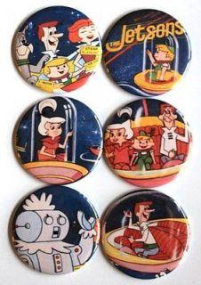 VINTAGE LUNCH BOX MAGNET SET Metal Domed Lunchbox TV Cartoon Art
