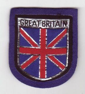 Great Britain flag Union Jack rally patch jacket blazer crest shoulder