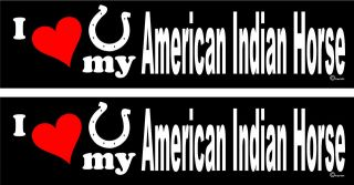 love my American Indian Horse horse trailer bumper stickers