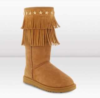 New Jimmy Choo Ugg Uggs Chestnut Brown Sora Boots Shoes 11 42 UK 9.5