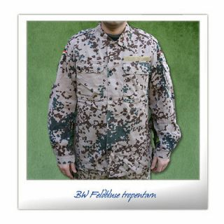 Original germany army combat shirt desert tropical camo flecktarn