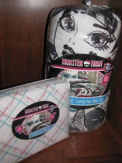 New Monster High Bedding Sheet Set & Comforter Set Twin 7 Pcs & Full