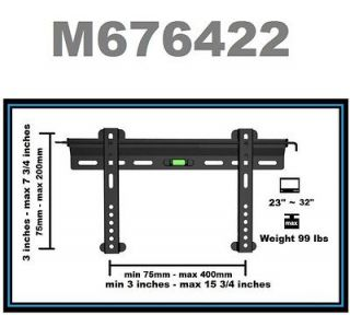 Ultra Slim Flat Wall Mount Bracket For/Fits 23  32 Inch LED,LCD