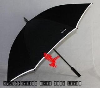 Men creative long handle Super large Manual rain umbrella w reflective