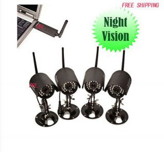 Security Camera System 4CH IR NightVision Outdoor USB DVR CCTV