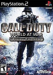 Call of Duty World at War   Final Fronts Sony PlayStation 2, 2008