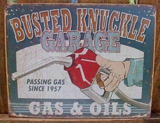 VINTAGE PASS GAS PUMP STATION OIL GARAGE MECHANIC KNUCKLE SHOP FUNNY