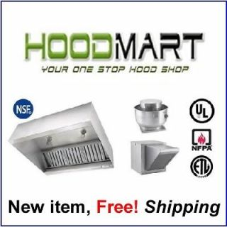 foot Makeup Air Grease Exhaust Hood System Fire Suppression Ansul Vent