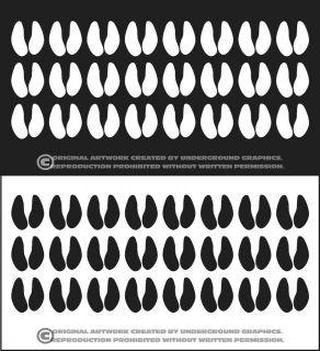 Wild Boar Kill Tallies Vinyl Window Decal Sticker Marks