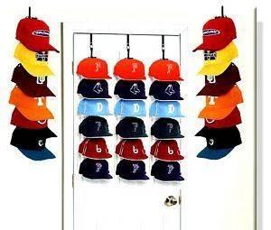 BASEBALL CAP DOOR / WALL STORAGE RACK (5 HAT RACKS )