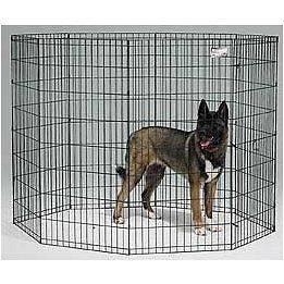 48 MIDWEST BLACK E COAT PET DOG EXERCISE PEN
