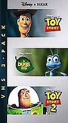 Pack A Bugs Life Toy Story Toy Story 2 VHS, 2001, 3 Tape Set