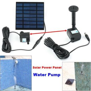Fountain Pool Garden Pond Submersible Watering Solar Water Pump Power