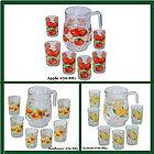 Pcs Glass Drinking Set (6 Tumblers & Pitcher Included) 3 Designs