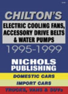 Electric Cooling Fans, Accessory Drive Belts and Water Pumps, 1995