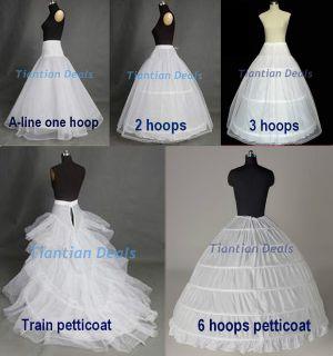 optional white underskirt crinoline wedding prom dress petticoat