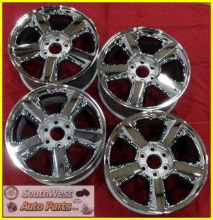 SILVERADO SIERRA YUKON TAHOE 20 CHROME TAKE OFF WHEELS OEM RIMS 5518